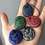 Náhrdelníky - Betónový náhrdelník justStone Blue 02 - 9213815_