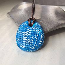 Náhrdelníky - Betónový náhrdelník justStone light Blue - 9213634_