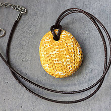 Náhrdelníky - Betónový náhrdelník justStone Yellow - 9213662_