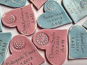 Darčeky pre svadobčanov - vintage menovky magnetky - 9212070_