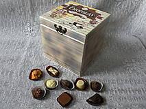 Krabičky - Originální vintage krabička chocolat - 9211567_