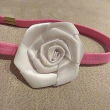 Detské doplnky - Čelenka s bielym kvetom - 9214019_