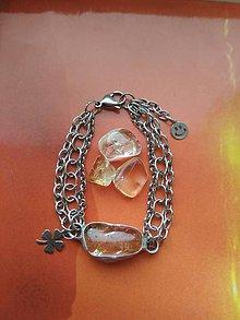 Náramky - Citrínový náramok z chirurgickej ocele - 9211711_