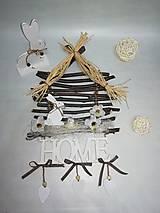Dekorácie - Závesná  dekoracia DOMOV - 9215154_