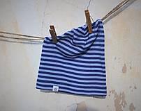 Detské čiapky - Detská celoročná merino čiapka modrý šmolko - 9211951_