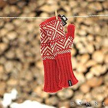 Rukavice - Dámske rukavice z ovčej vlny STRÁŽOV - 9213308_