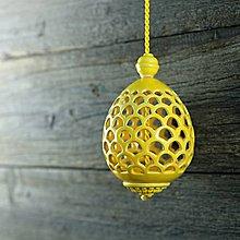 Dekorácie - Aroma difuzér vajíčko žluté - 9211073_