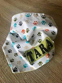 Pre zvieratká - Šatka pre psíka na mieru a s menom - 9212248_