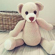 Hračky - háčkovaný medvedík - 9211621_