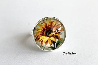 Prstene - Prsteň Sunflowers - 9214017_