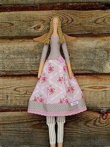 Dekorácie - Béžová kráska..., textilný anjel - 9214151_