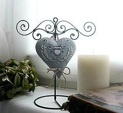 Dekorácie - stojan so srdcom - 9214039_