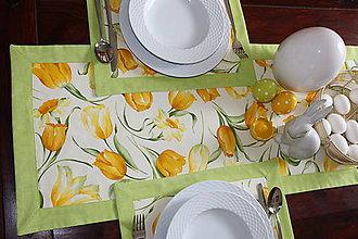 Úžitkový textil - prestieranie jarné kvety - 9214021_