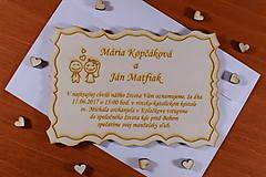 Papiernictvo - Svadobné oznámenie drevené gravírované 2 - 9210827_