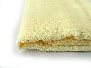 Šály - krémovo-žltý bavlnený šál skladom:-) - 9210980_