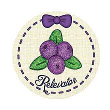 Dekorácie - Ozdoba na koláčiky ovocná kreslená - čučoriedky (puntíky) - 9212725_