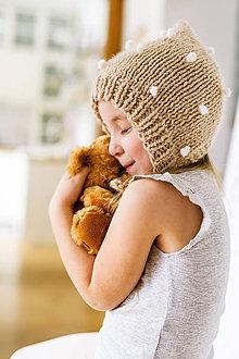 Detské čiapky - Zimný pixie čepček s guľkami - 9219617_