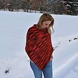 Iné oblečenie - Červeno oranžové pončo - 9218686_
