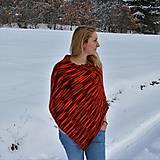 Iné oblečenie - Červeno oranžové pončo - 9218687_