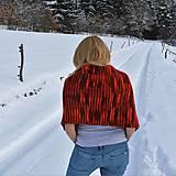 Iné oblečenie - Červeno oranžové pončo - 9218688_