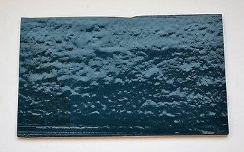 Suroviny - Sklo tmavo modré, priehľadné, zn. Bullseye - 9216284_