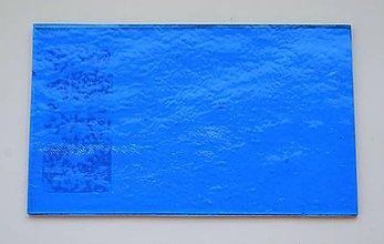 Suroviny - Sklo pravá modrá farba, priehľadné, zn. Bullseye - 9216303_