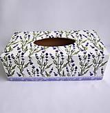 Krabičky - Krabica na vreckovky-Levanduľky - 9219072_