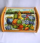 Nádoby - Drevený chlebník-zátišie s ovocím - 9219280_