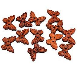 Galantéria - Gombík: Motýlik - 1 ks - 9217846_