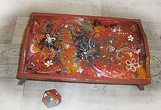 Nábytok - hippie bohemian podnos - 9215674_