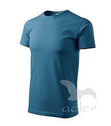 Textil - Pánske tričko ADLER - Basic (129), veľkosť XL, petrolejová - 9216381_