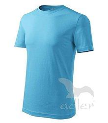 Textil - Pánske tričko ADLER - Classic new (132), veľkosť XL, tyrkysová - 9216451_