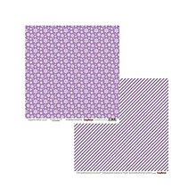 Papier - V zľave z 0,69€ Papier obojstranný 30,5x30,5cm Elegantly Festive - Snowflakes Lilac - 9217875_