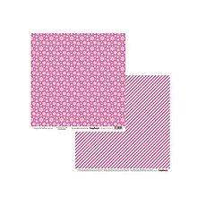 Papier - V zľave z 0,69€ Papier obojstranný 30,5x30,5cm Elegantly Festive - Snowflakes Pink - 9217936_