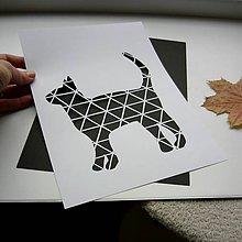 Obrazy - Mačička geo... - 9219223_