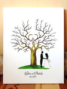 Obrazy - Wedding tree VI_b - svadobný strom - 9218581_