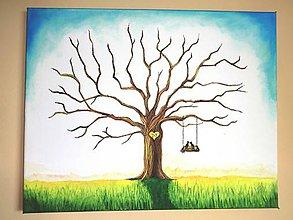 Obrazy - Wedding tree - svadobný strom - 9218694_