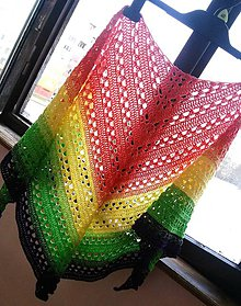 Šatky - Šatka - farby dúhy - 9218394_