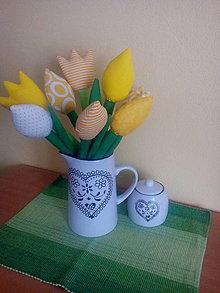 Dekorácie - tulipány (Šedá) - 9215622_