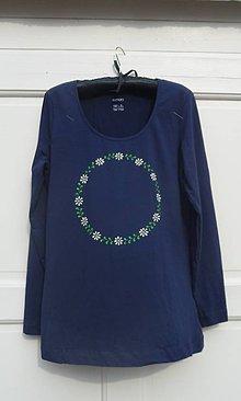Tričká - tričko maľované - venček - 9218562_