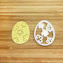 Pomôcky - vykrajovačka veľkonočné vajce s kvietkami - 9216496_