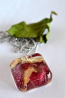 Náhrdelníky - Náhrdelník Ruža DUO (2371 A CHO) - 9219419_
