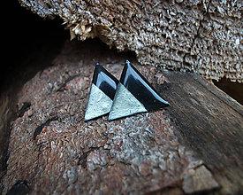 Náušnice - Trojuholníky 20 mm MINIMAL (strieborná) - 9216035_