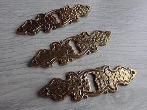 Dekorácie - Rustikálny štítok, staré zlato - 9215989_