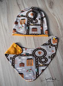 Detské čiapky - set pre chlapca - 9219351_