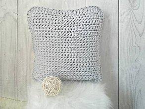 Úžitkový textil - Vankúš svetlošedý na 40x40cm - 9215503_