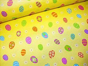 Textil - Bavlnená látka veľkonočna - vajíčka - 9217482_