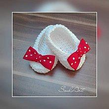 Topánočky - Háčkované balerínky pre retro princezničku - 9218260_