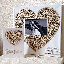 Obrázky - Srdiečkové srdce s fotkou 30x30cm (+ telegram) - 9218478_