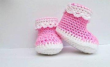 Topánočky - Papučky BABY LOVE pink - 9218033_